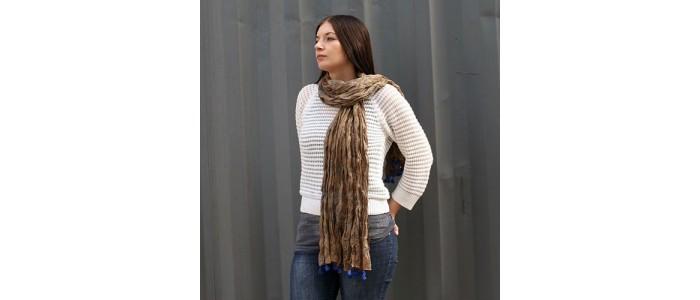 Antique Tasseled Cotton Scarves