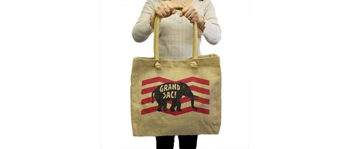 BIG Jute Elephant Bags