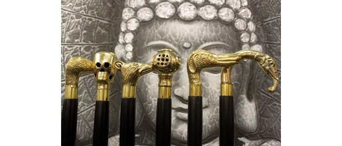 Brass Topped Walking Sticks