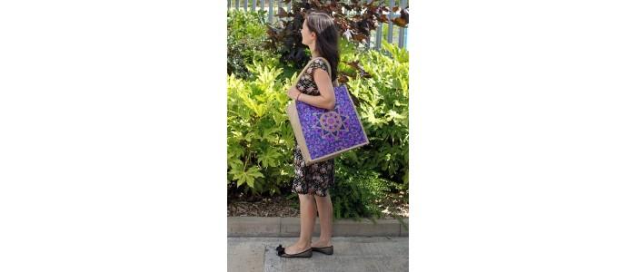 Jute & Alpana Silk Shopping Bags
