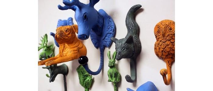 Vintage Animal Metal Hooks