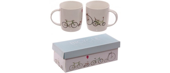 Bone China Double Mugs Gift Set