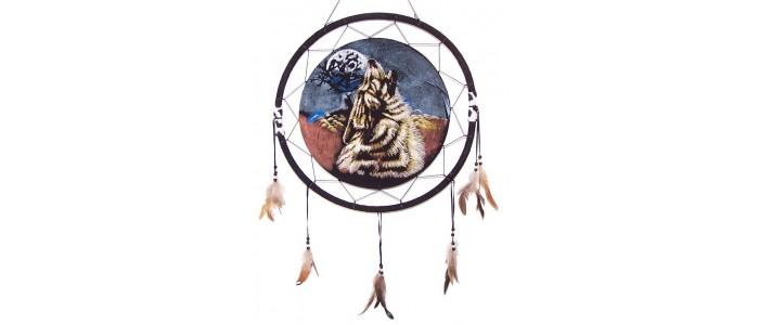 Round Wolf Dreamcatcher Pictures